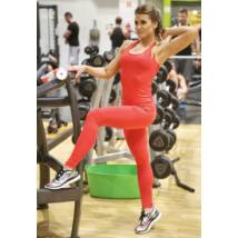 COCKTAIL  BASIC RED FITNESS LEGGINGS